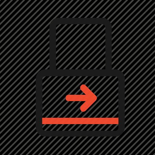 arrow, close, lock, locked, open, right, secure icon