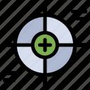 crosshair, focus, reticle, scope, target