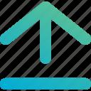 arrow, up, upload