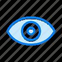 eye, see, view, vision