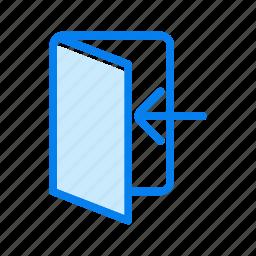 door, in, login icon