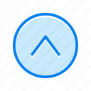 arrow, up, upload icon