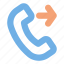 call, outgoing, contact, user interface