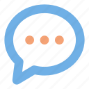 chat, comment, bubble, message, user interface