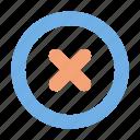 cross, error, delete, user interface