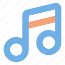 music, note, player, user interface