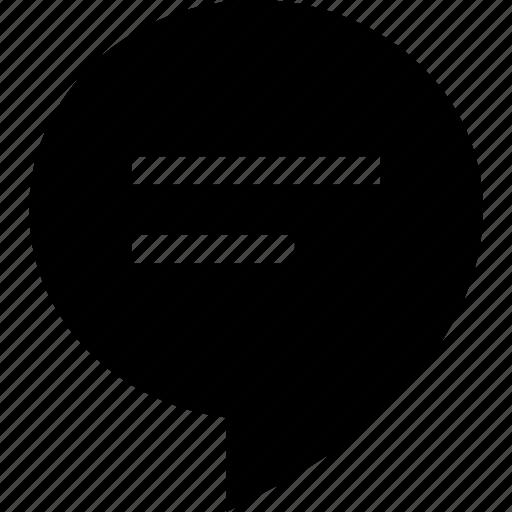 balloon, buble, message, speech icon