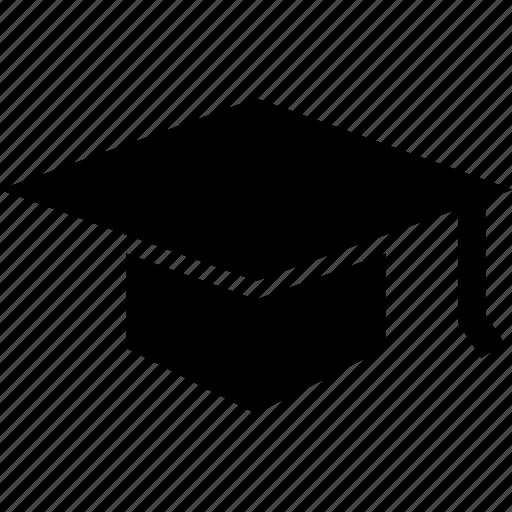 academic cap, graduation cap, mortarboard icon