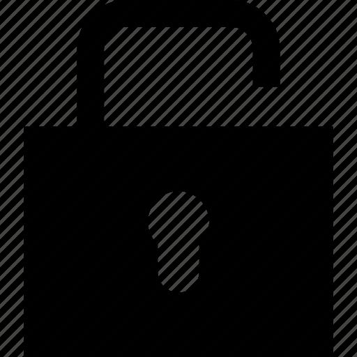 open, padlock, unlock icon