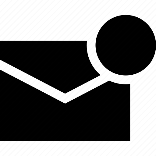 email, mail, message, unread icon