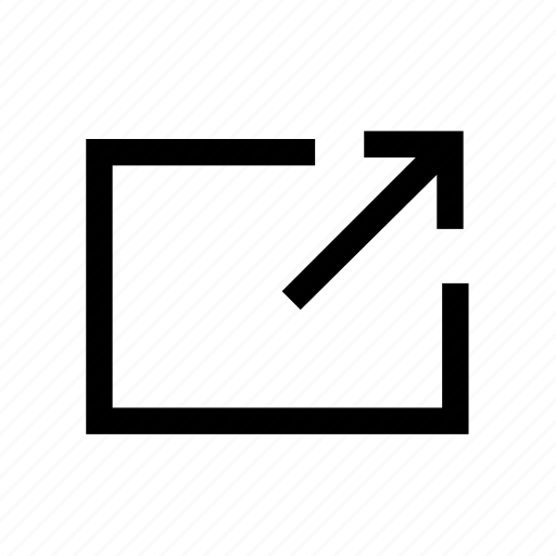 arrow, box, line, message, of, out, send icon