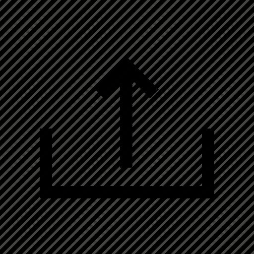 arrow, direction, file, folder, line, up, upload icon