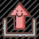 direction, file, interface, storage, upload, user icon