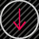 arrow, down, download, menu, point, pointer icon