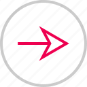 arrow, forward, go, menu, next, right icon