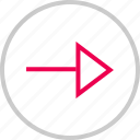 arrow, go, menu, next, point, right icon