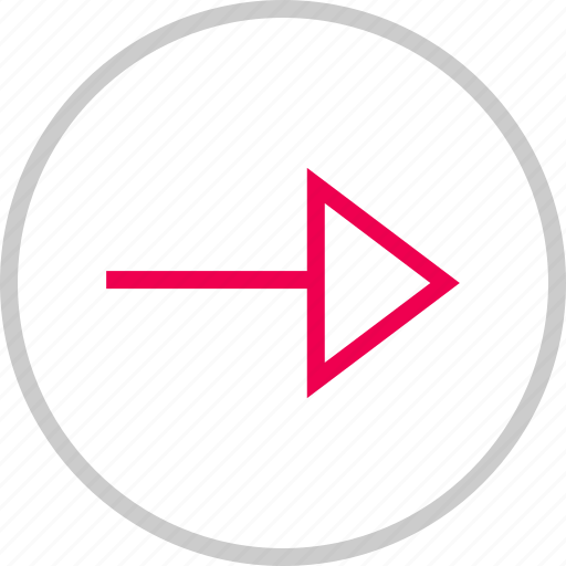 arrow, go, menu, next, point, right icon