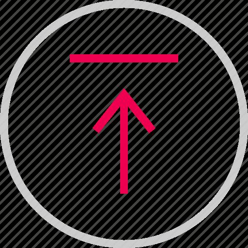 arrow, attachement, menu, save, up, upload icon