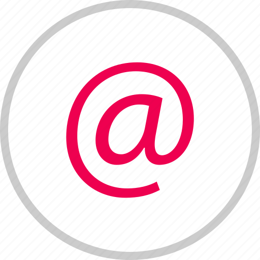 address, at, email, mail, menu, message, sign icon