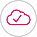 check, cloud, mark, menu, safe, secure, weather icon