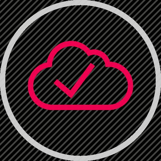 check, cloud, mark, menu, safe, secure, weather icon