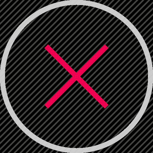 close, cross, delete, deny, menu, x icon