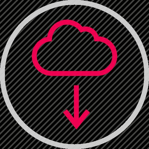 arrow, cloud, dowan, download, menu icon