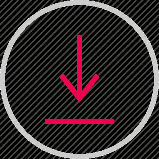 attachement, down, download, file, menu icon