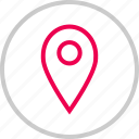 direction, gps, locate, location, menu, pin icon