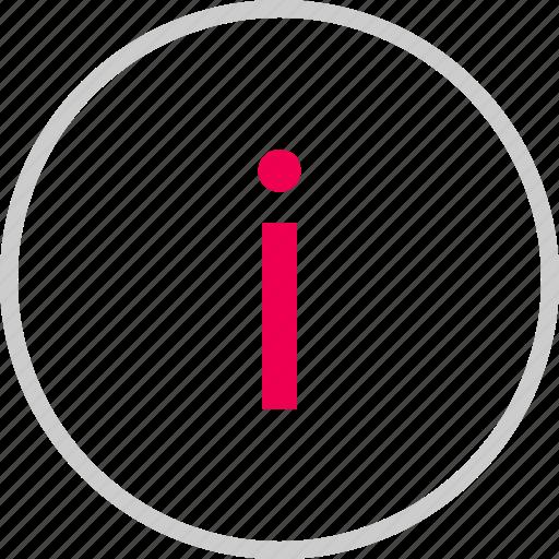 i, info, information, menu, more icon