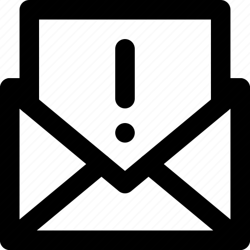 basic icon, email, important, suspicious, ui, user interface, warning icon