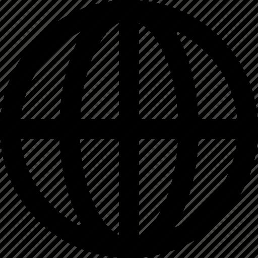 basic icon, globe, international, network, web, website, world icon