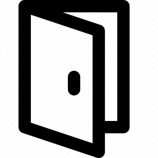 basic icon, door, entrance, exit, ui, user interface icon