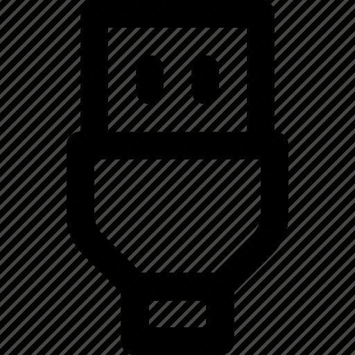 basic icon, cable, hardware, installation, ui, usb, user interface icon