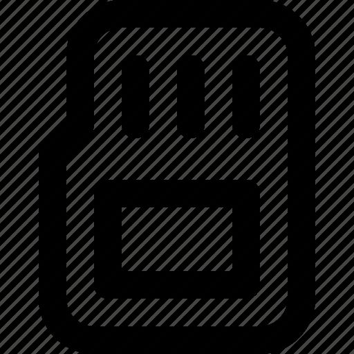 basic icon, card, files, memory, storage, ui, user interface icon