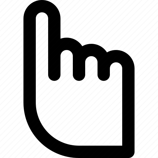 basic icon, finger, hand, pointer, pointing, ui, user interface icon