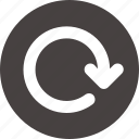 arrow, circle, clockwise, loading, reload, rotate icon icon