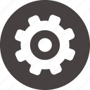 configuration, gear, system, ui icon icon