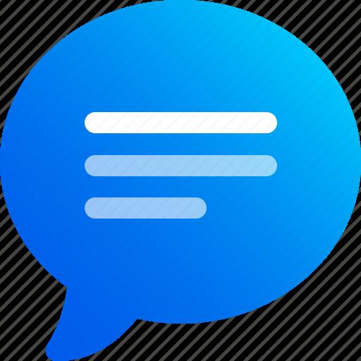 bubble, chat, comment, conversation, message, speech, talk icon