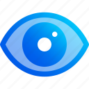 eye, look, see, show, view, visible icon
