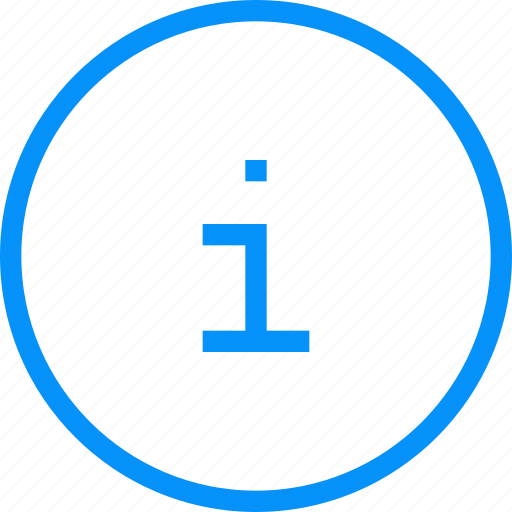 Blue, info, circle, information, question, round, service icon - Download on Iconfinder