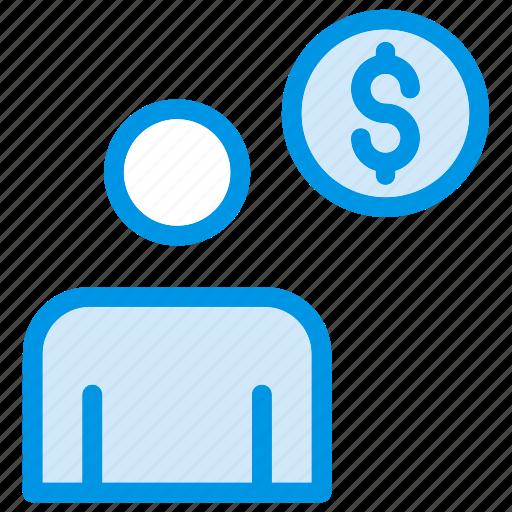 account, dollar, profile, user icon