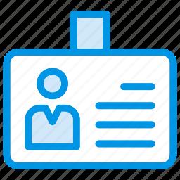 badge, card, id, identity icon