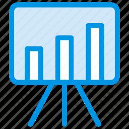 board, chart, presentation, statistic icon