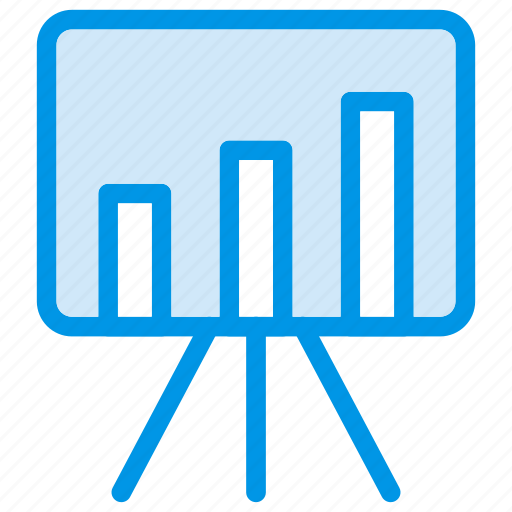 board, chart, presentation, statistic icon