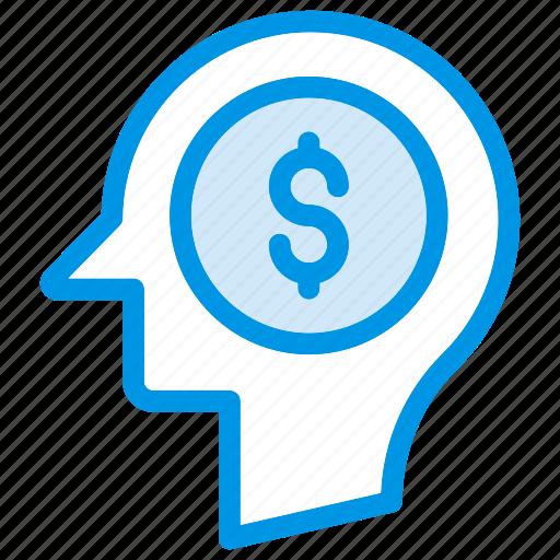 Brain, dollar, head, mind icon - Download on Iconfinder
