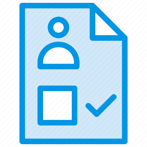 checklist, cv, document, file icon