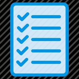 checklist, document, file, sheet icon