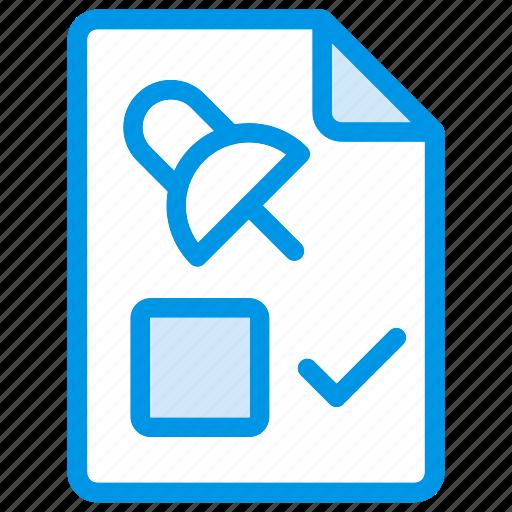 Attach, checklist, document, file icon - Download on Iconfinder