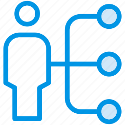 connect, link, network, user icon